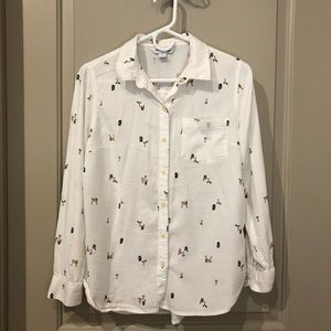 Old Navy shirt, cute print-size small.